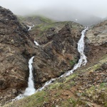 More waterfalls near the top of the pass
