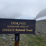 Official Crow Pass sign