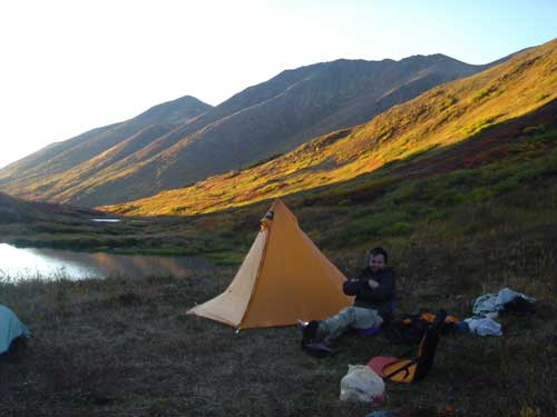 Devil's Pass camp. Photo by Frank Baker.