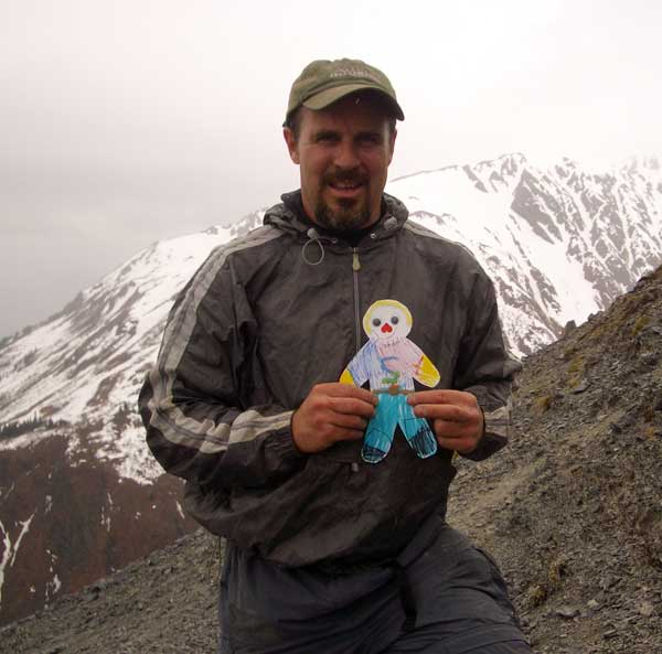 Me and Flat Stanley at the top.
