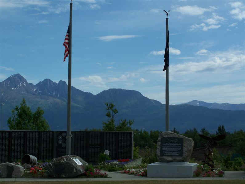 Vet's Wall with Mt. POW-MIA in background. Photo submitted anonymously.