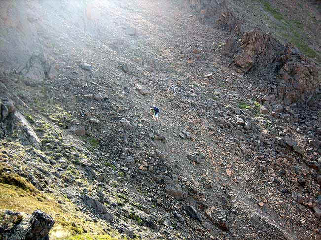 Scree slope. Photo by William Mohn.