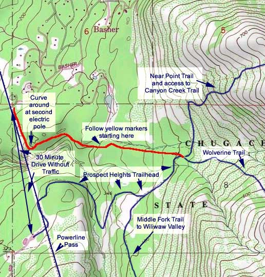Basher Trail topo map