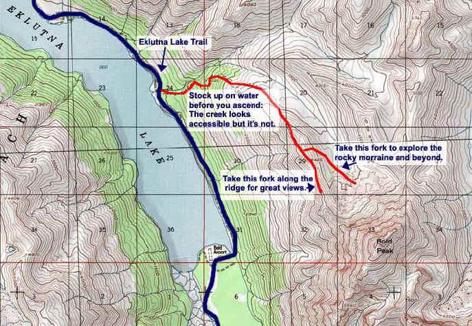 Bold Peak Valley topo map