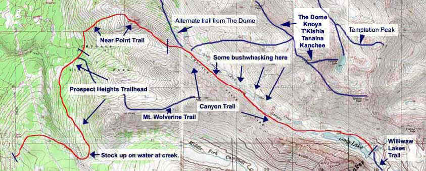Campbell Creek Canyon Trail topo map