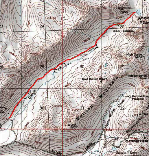 Craigie Creek Trail topo map