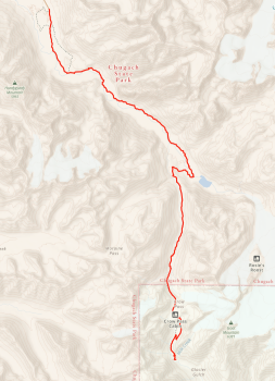 Map of Crow Pass
