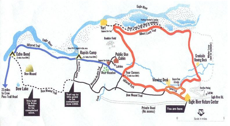 Map of Dew Mound Trail