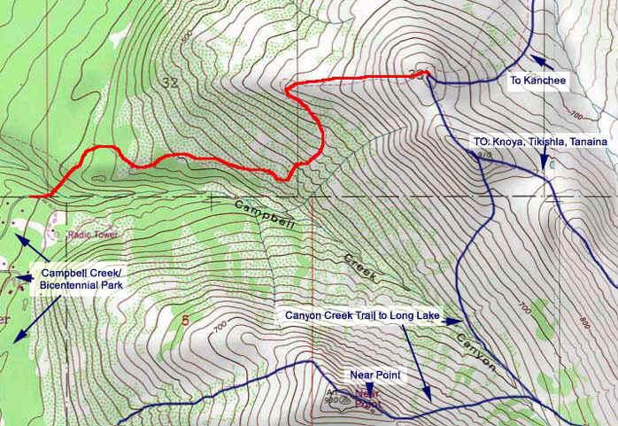 The Dome topo map