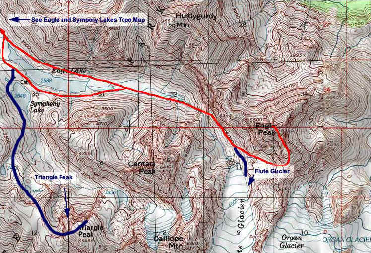 Eagle Peak topo map