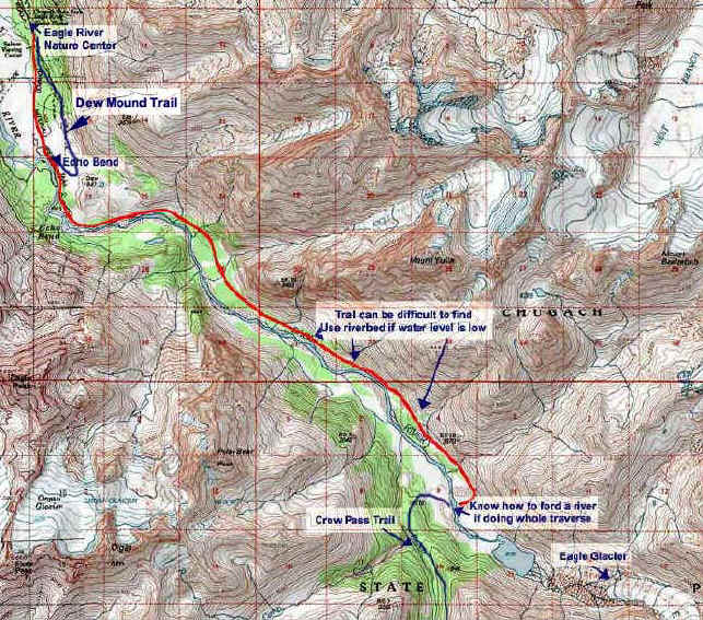 Eagle River topo map