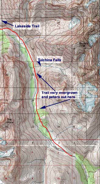 East Fork Trail topo map