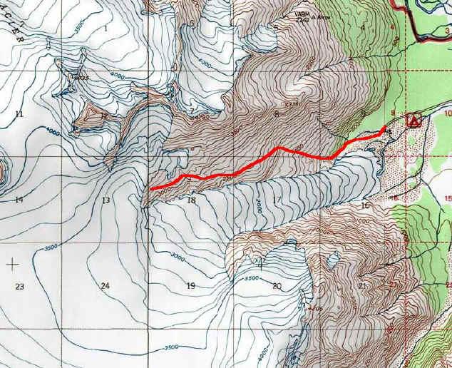 Exit Glacier & Harding Icefield topo map