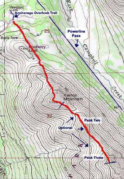 Flat Top topo map