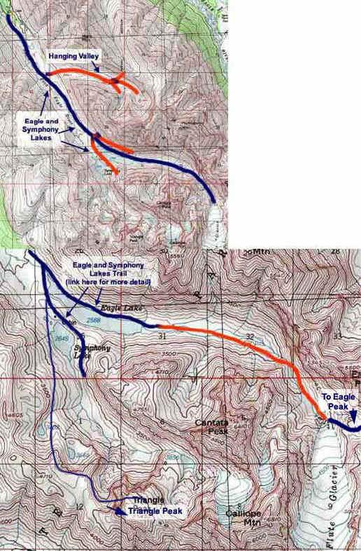 Flute Glacier topo map