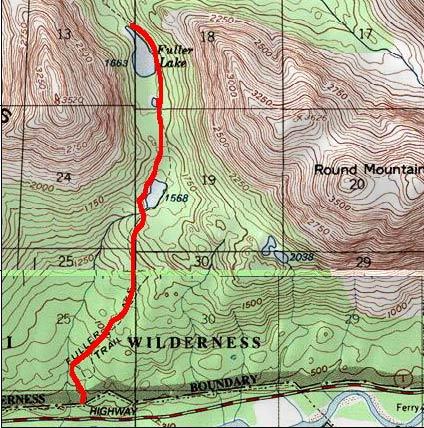 Fuller Lakes topo map