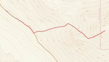 Map of Gold Star Peak
