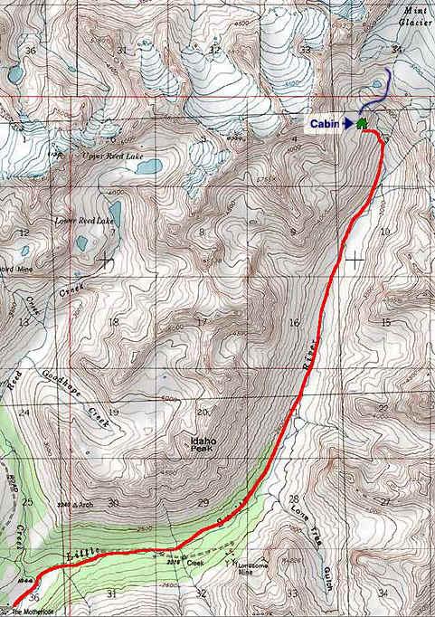 Gold Mint Trail topo map