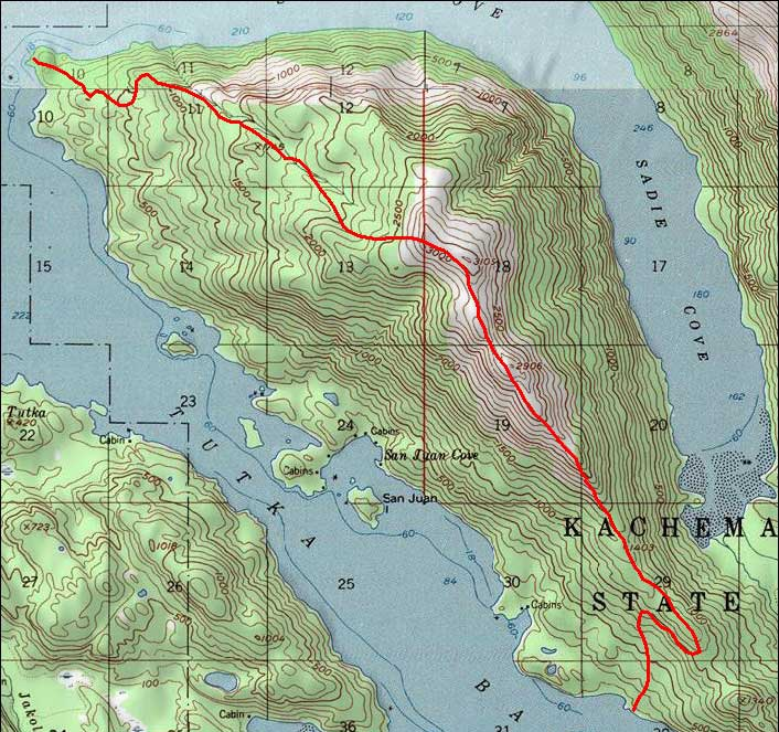 Grace Ridge topo map