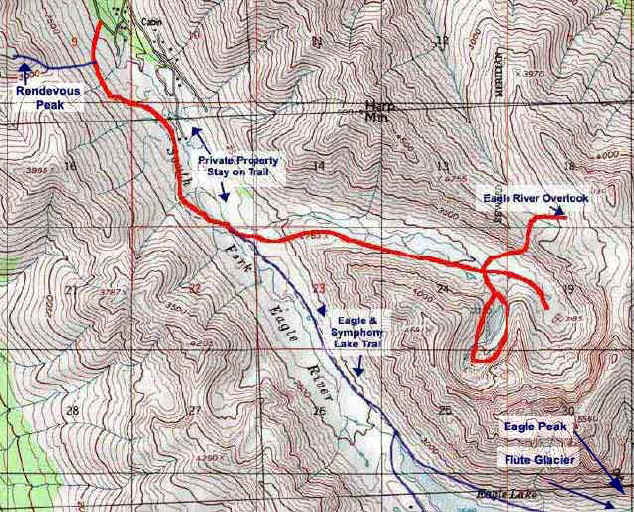 Hanging Valley topo map