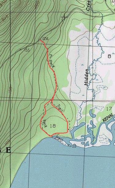 Hidden Creek Trail topo map