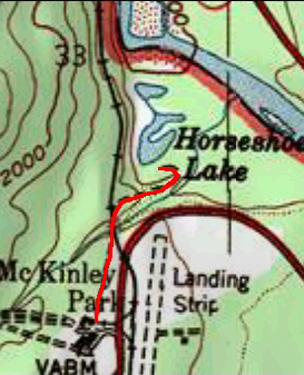 Horseshoe Lake Trail topo map
