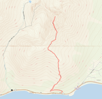 Map of Indianhouse Mountain