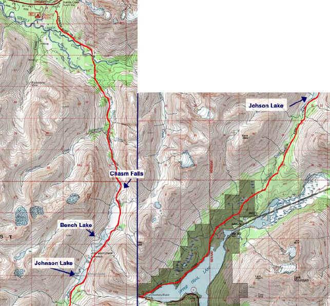 Johnson Pass topo map