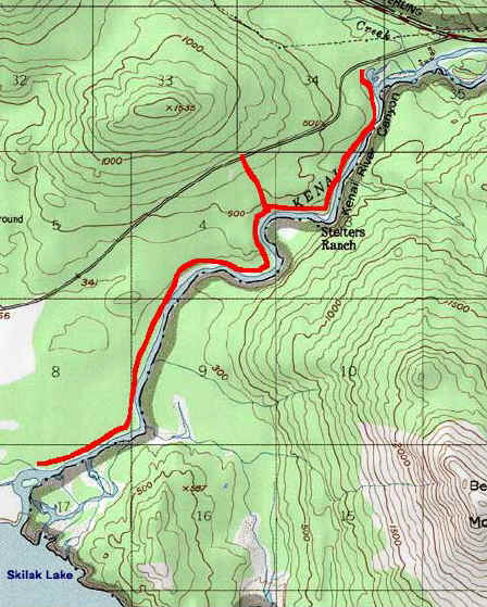 Kenai River Trails topo map
