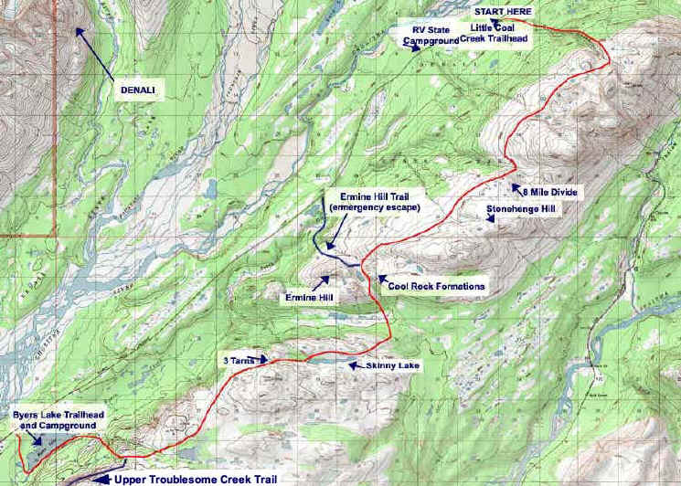 Kesugi Ridge topo map