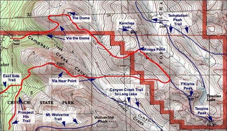 Knoya Peak topo map