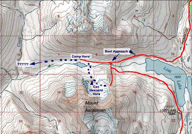 Lost Lake Backcountry topo map