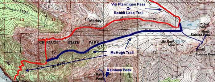 McHugh Peak topo map