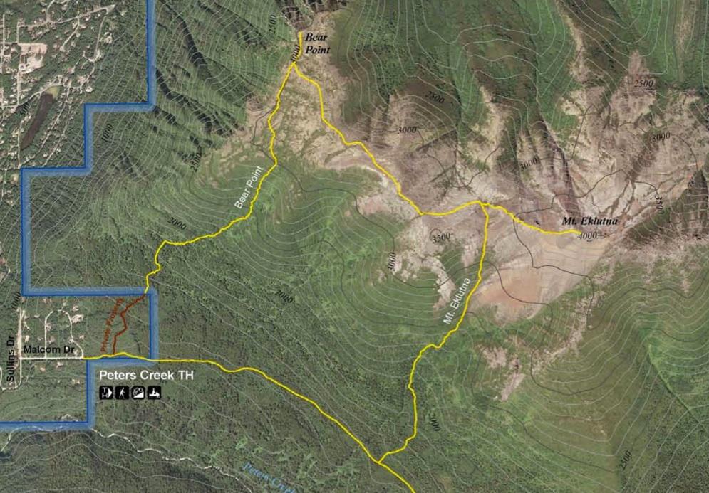 Mt. Eklutna topo map