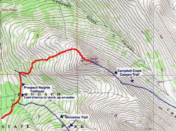 Near Point topo map