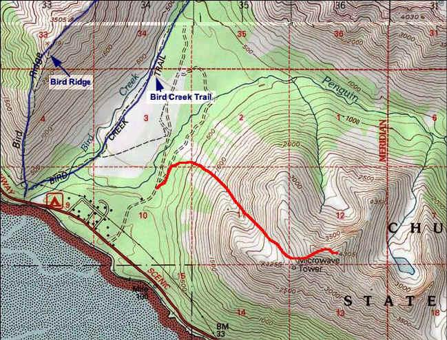 Penguin Peak topo map