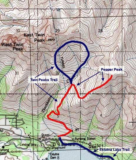 Pepper Peak topo map
