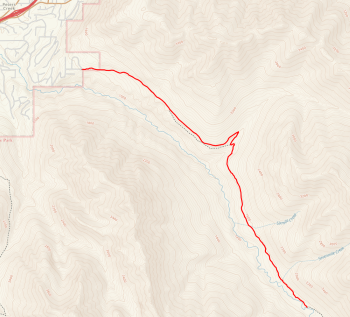 Map of Peter's Creek Trail