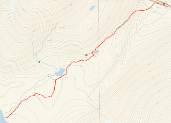 Map of Portage Pass