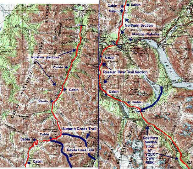 Resurrection Pass topo map
