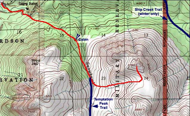 Ship Creek Hill topo map