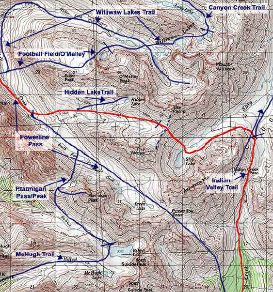 Ship Lake Valley topo map