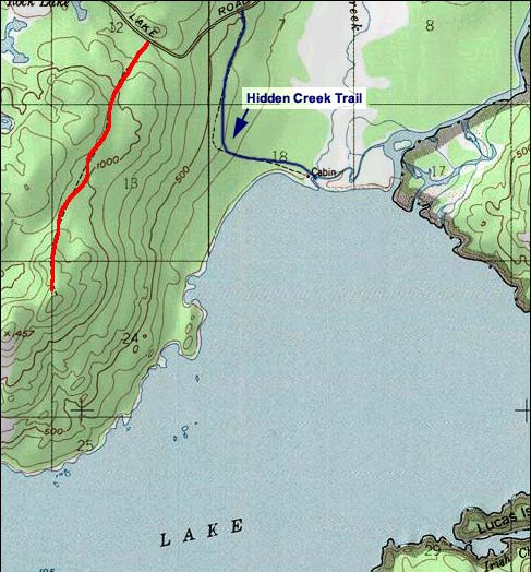 Skilak Lookout Trail topo map