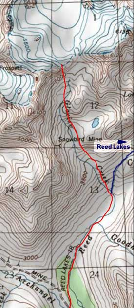 Snowbird Mine & Glacier topo map