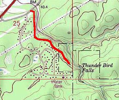 Thunderbird Falls topo map