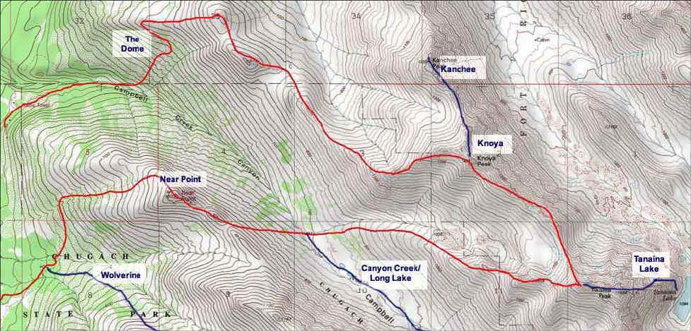 T'Kishla Peak topo map
