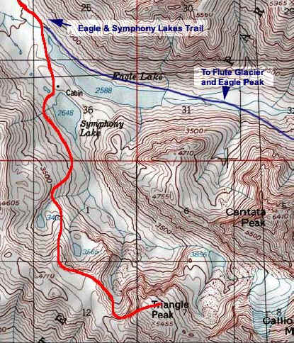 Triangle Peak topo map