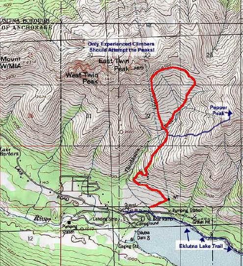 Twin Peaks topo map