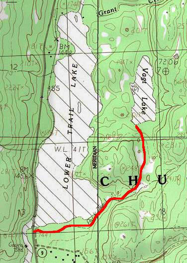 Vagt Lake topo map