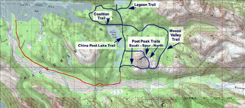Wosnesenski River Trail topo map